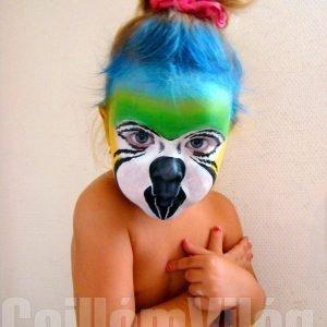 Papagáj-arcfestés