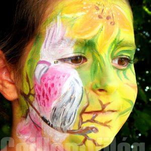 Rózsaszínkakadu-arcfestés