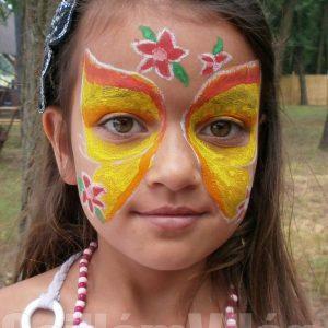 Lepke-arcfestés