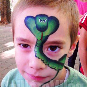 Kígyó-arcfestés