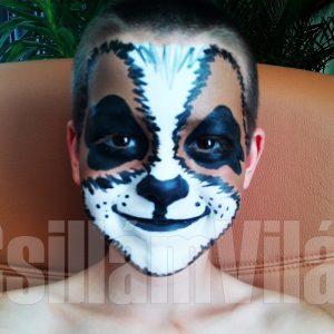 Kutya-arcfestés