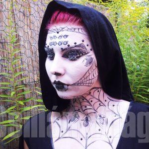 Feketeözvegy-arcfestés