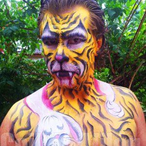 Sikeres-vadászat-arcfestés