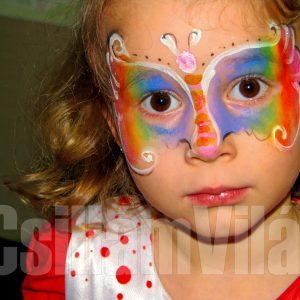Pillangó-kisasszony-arcfestés